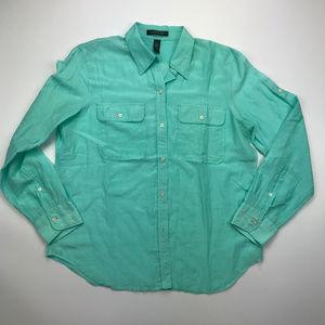 Ralph Lauren Light Blue Button Down Size L